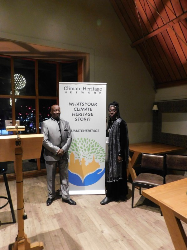 Kwame Sha and Queen Quet of the Gullah/Geechee at Climate Heritage Network Launch