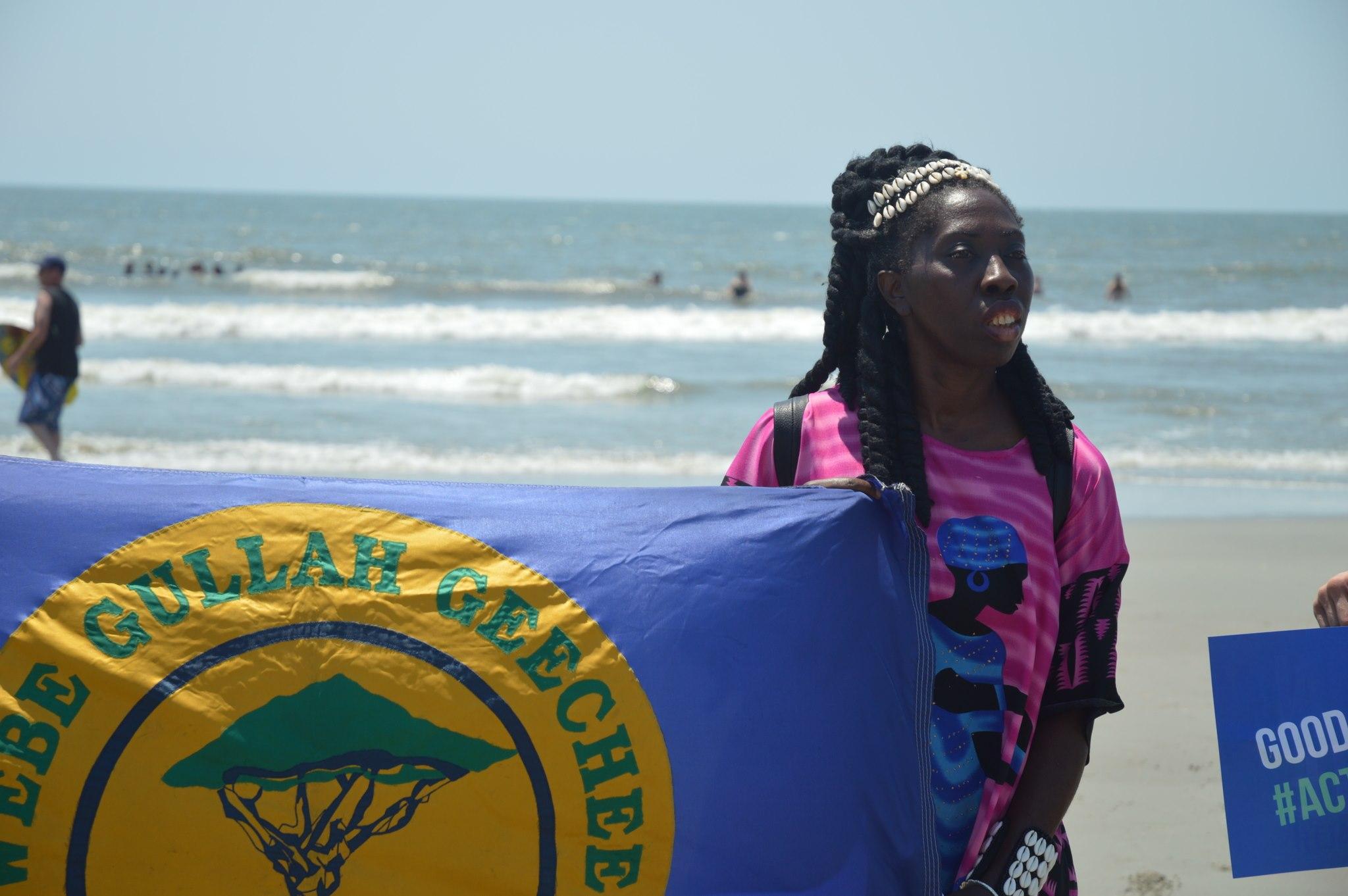 Queen Quet of the @GullahGeechee Standing Up for the Ocean